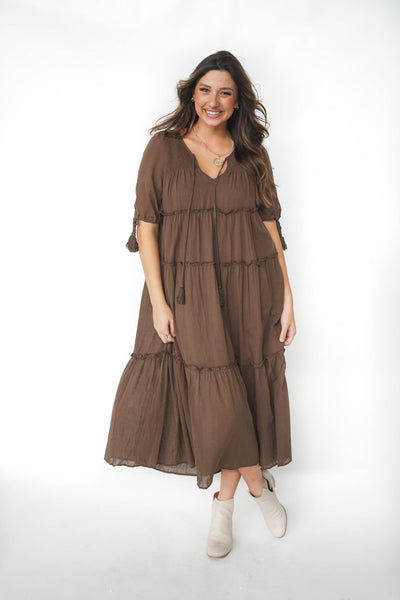 Hills And Valleys Peasant Maxi