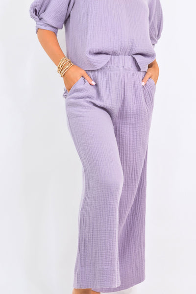 Lounging In Lavendar Pants