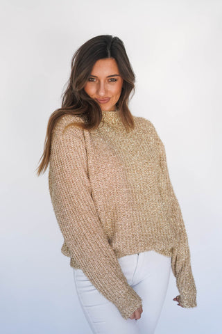 All Things Gold Tinsel Sweater