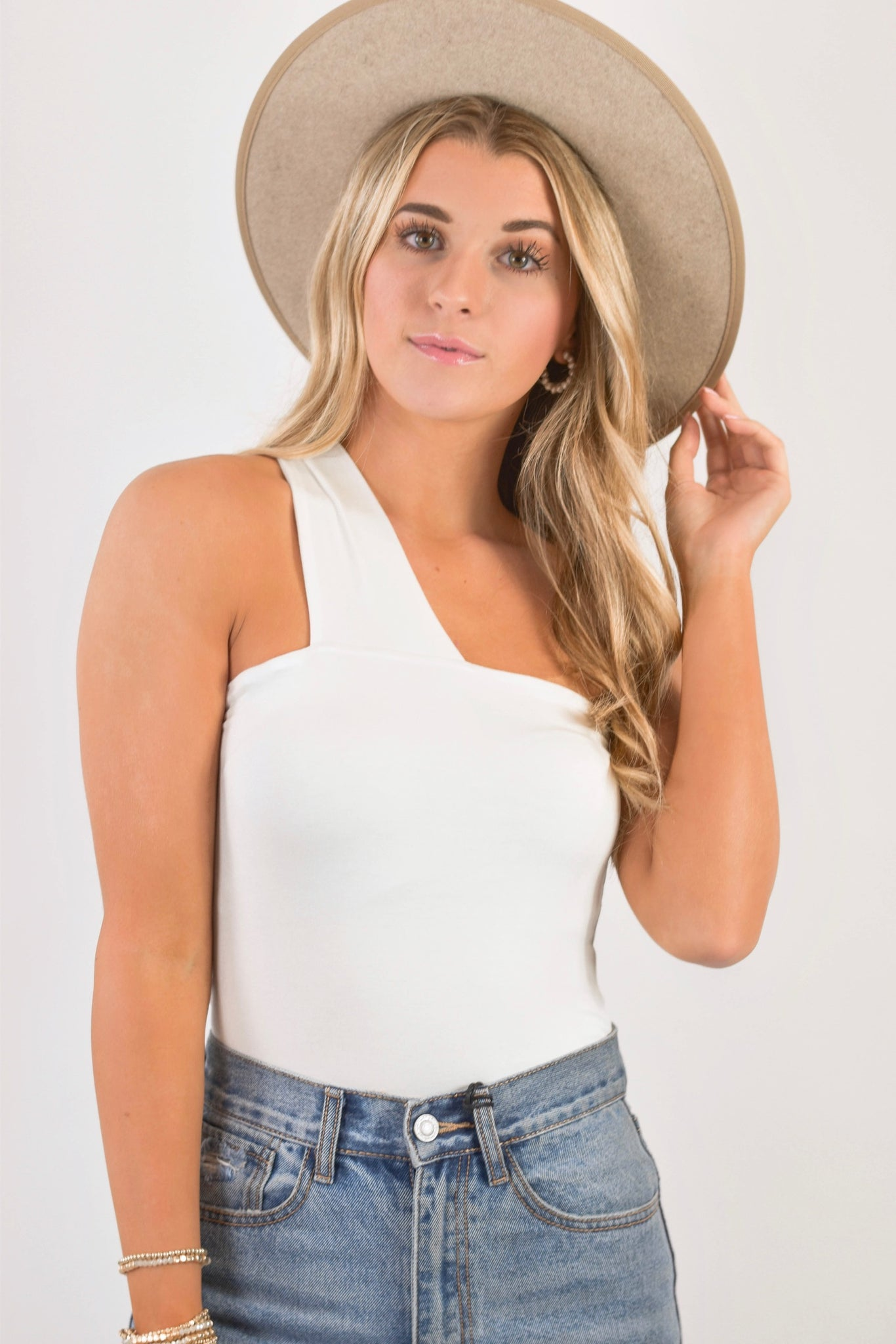 The Anniston Bodysuit White
