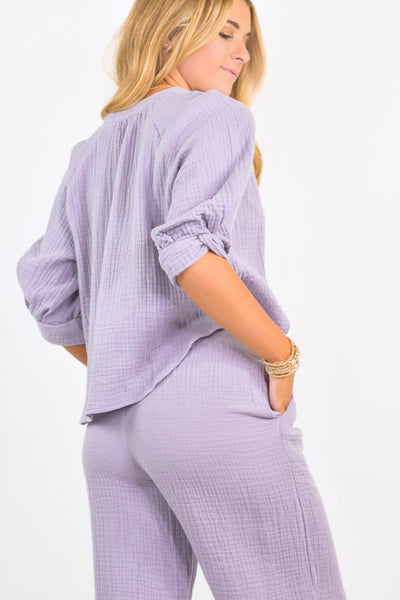 Lounging In Lavendar Top