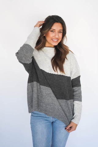 Don't Be Shady Mock Neck Sweater