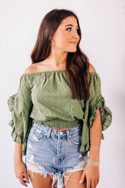 The Ellie Eyelet Top