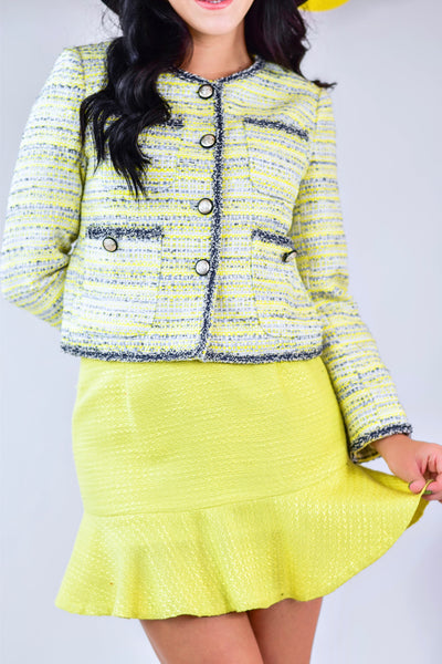 Lemoncello Ruffle Skirt