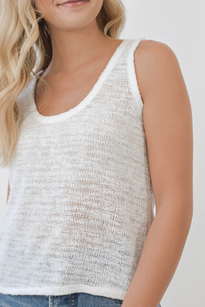 Bare Necessities Tank White