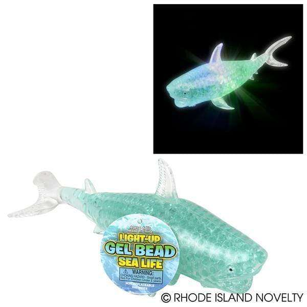 "8"" Light Up Gel Bead Squeeze Shark"