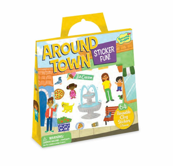 Around Town Reusable Sticker Tote