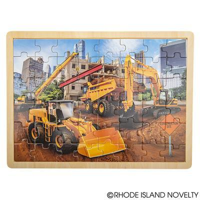 48 Piece Construction Wooden Puzzle