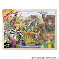 48 Piece Safari Animal Wooden Puzzle