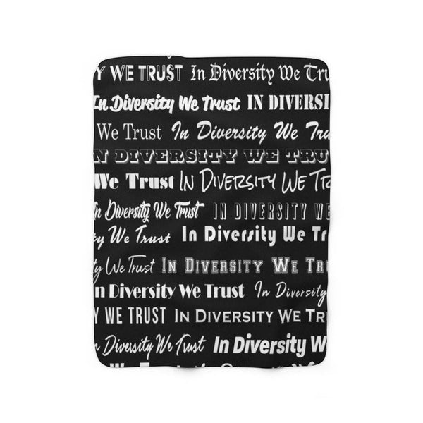 "HYBRID NATION ""IDWT"" SHERPA FLEECE BLANKET"