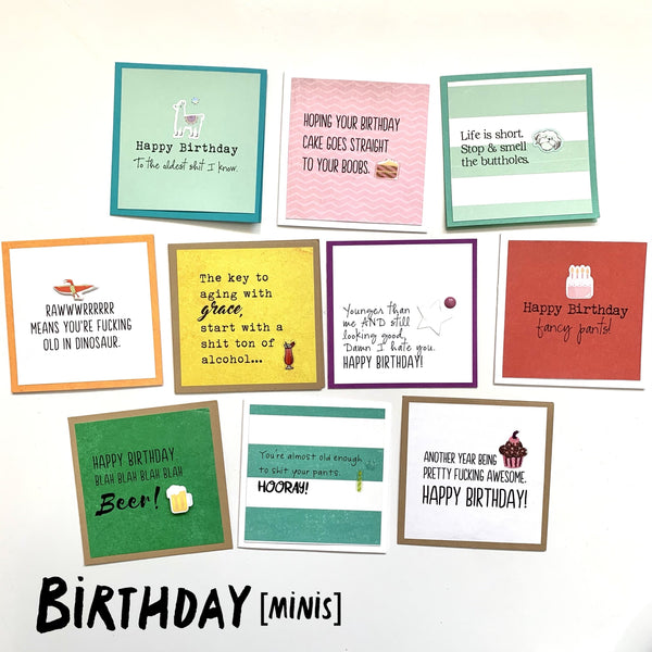 Bundle Set 10-Mini Card Value Pack: Birthday