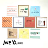 Bundle Set 10-Mini Card Value Pack: Love Ya