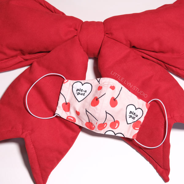 Pit-a-Pat Heart Handmade Reusable face mask