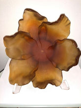 Load image into Gallery viewer, DAUM France Pate De Verre Tulip Art Glass Bowl Amber