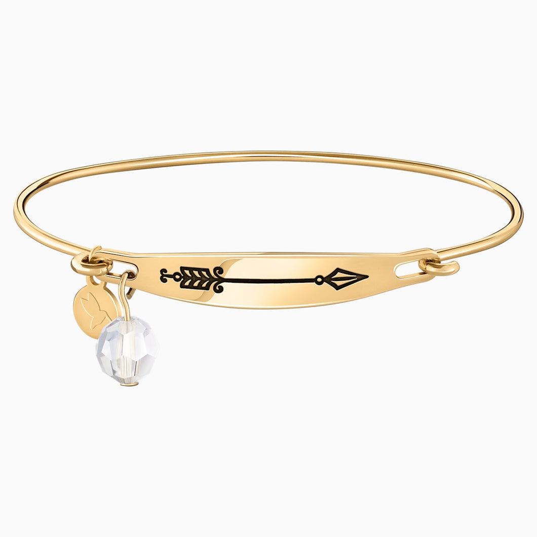 ARROW ID BANGLE, GOLD PLATING M/L