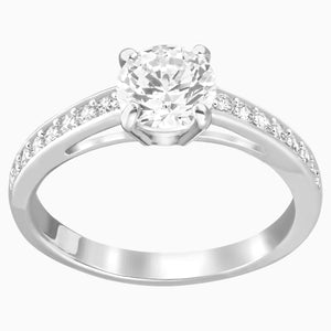 ATTRACT:RING RND PAVE CZWH/RHS 55
