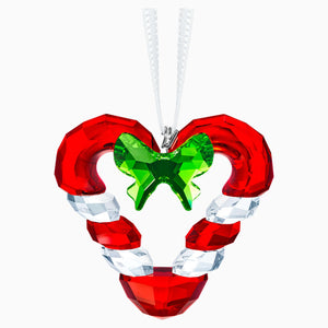 CANDY CANE HEART ORNAMENT