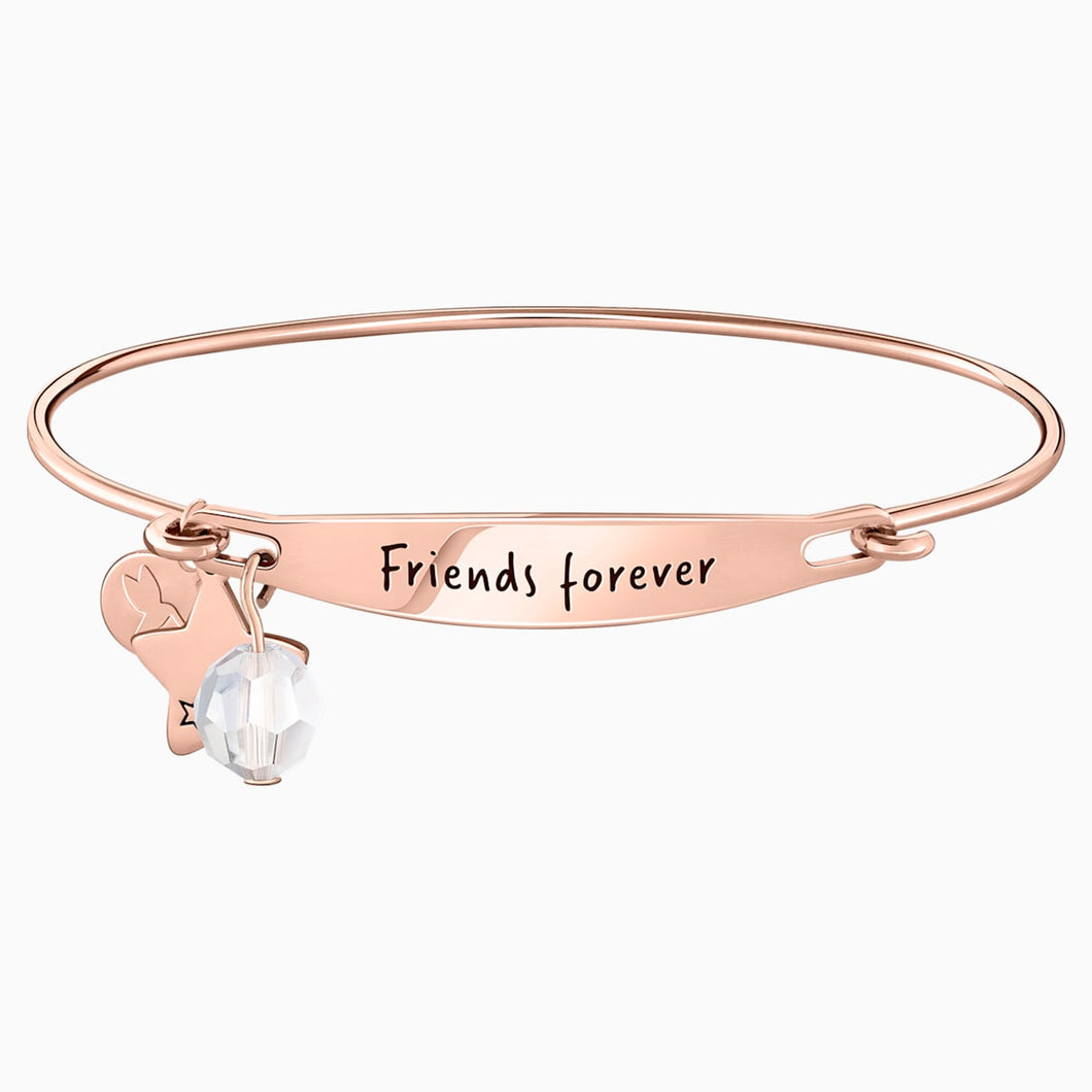 FRIENDS FOREVER ID BANGLE 14K RG M/L