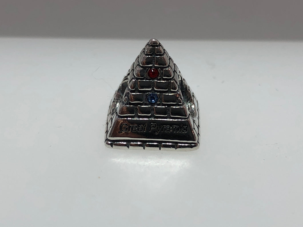 Local Beads Silver Egypt Great Pyramid