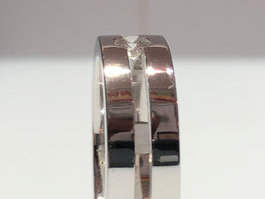 Men's Ring Tension Setting with Diamond