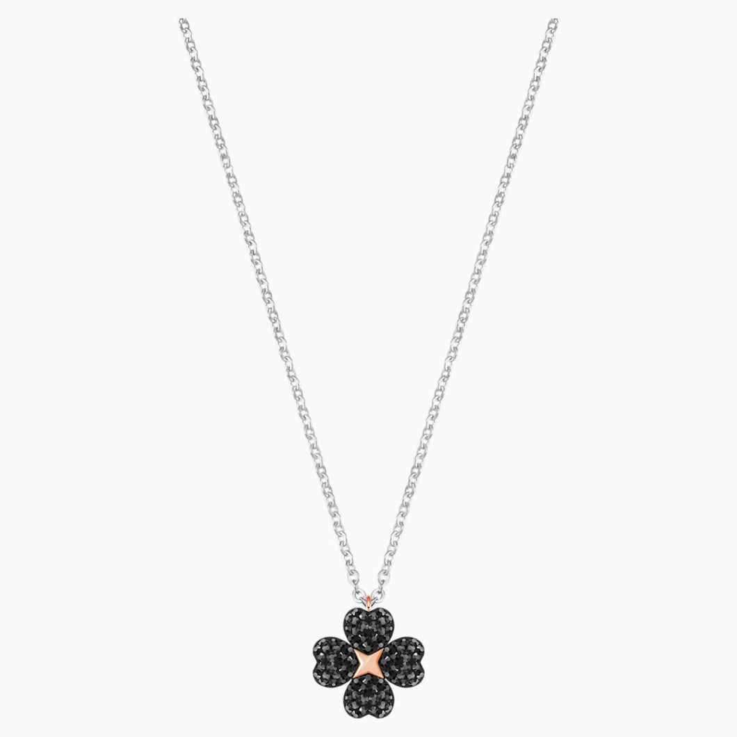 LATISHA:PENDANT FLOWER CRY/JET/MIX