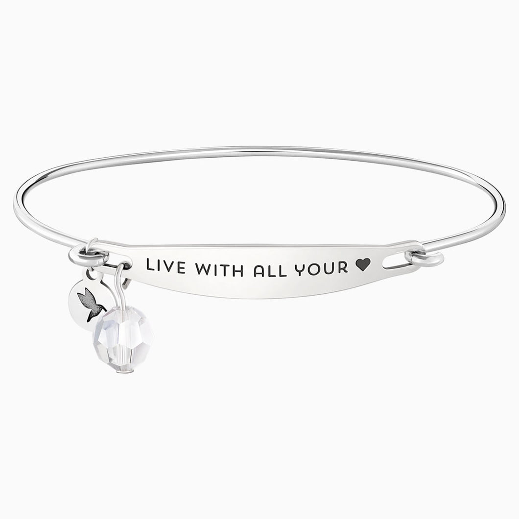 LIVE WITH ALL YOUR HEART ID BANGLE M/L