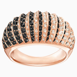 LUXURY:RING DOMED JET/SILK/ROS 60