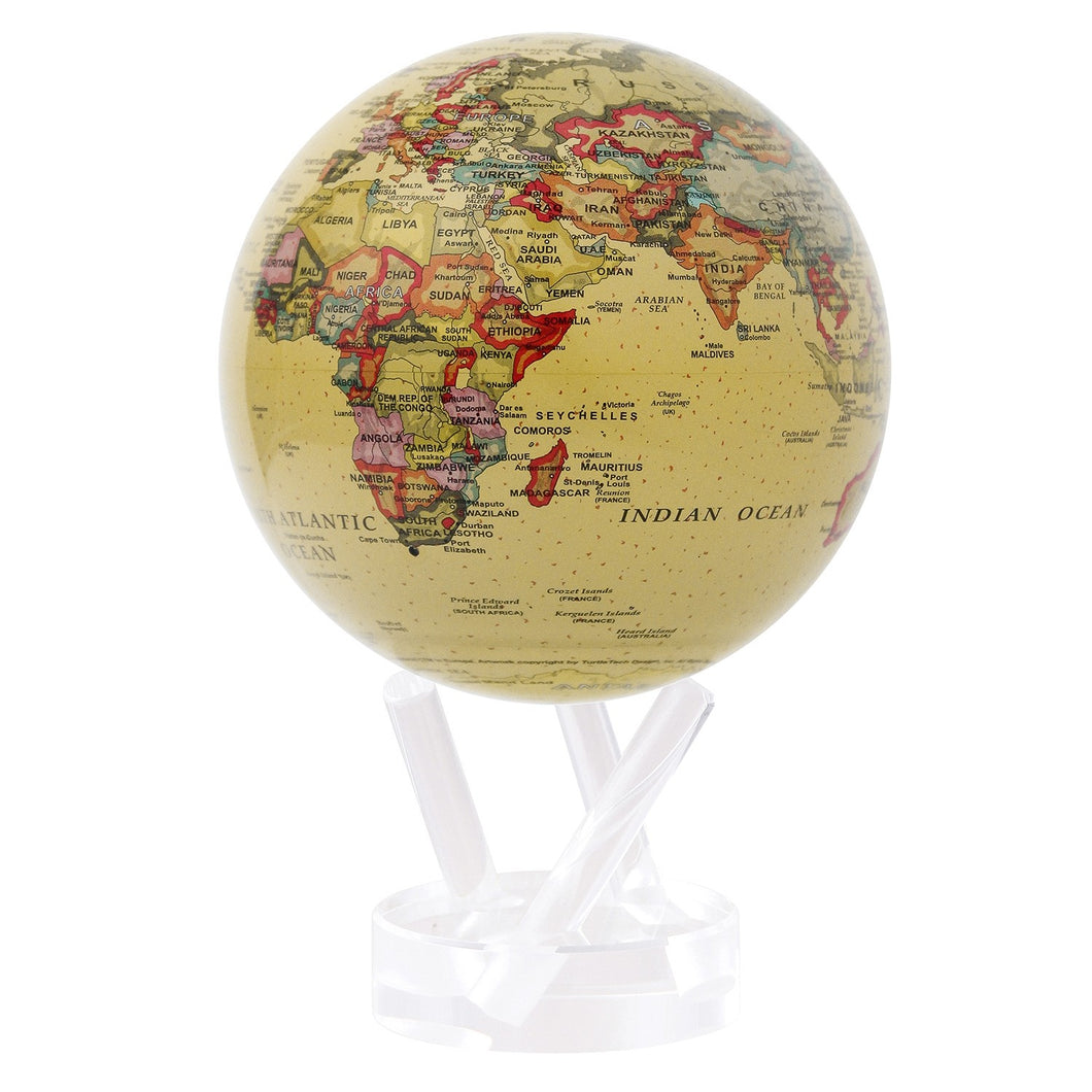 Mova Globe Political Map Yellow ATE