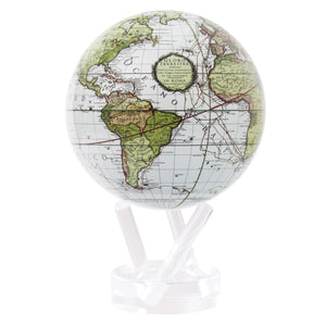 Mova Globe Antique Terrestrial White WCT