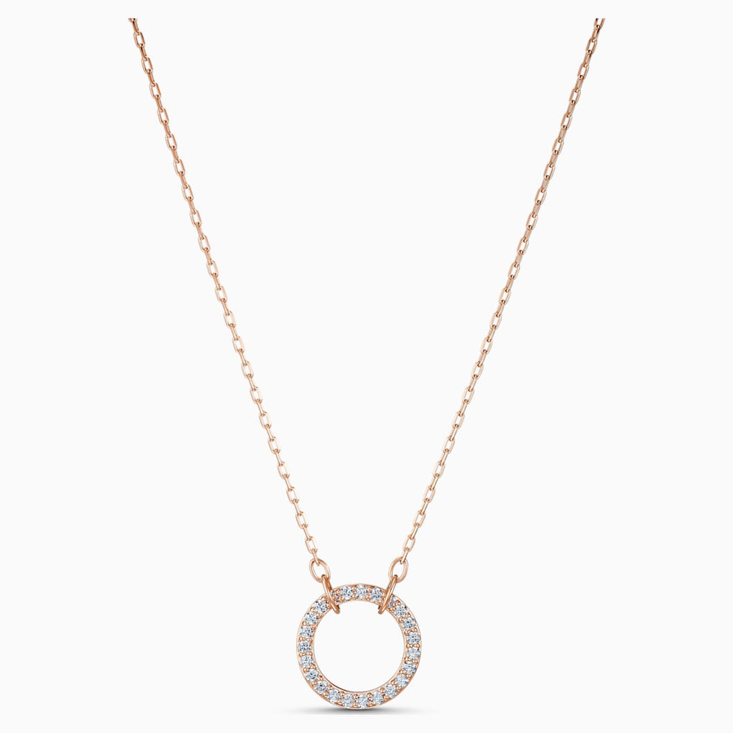ONLY:NECKLACE RND CZWH/ROS