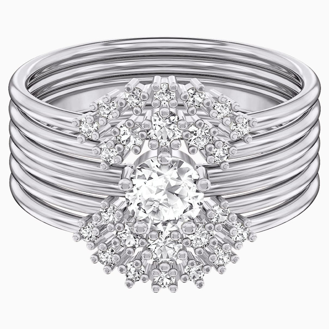 MOONSUN:RING SET 5 CZWH/RHS 2 60