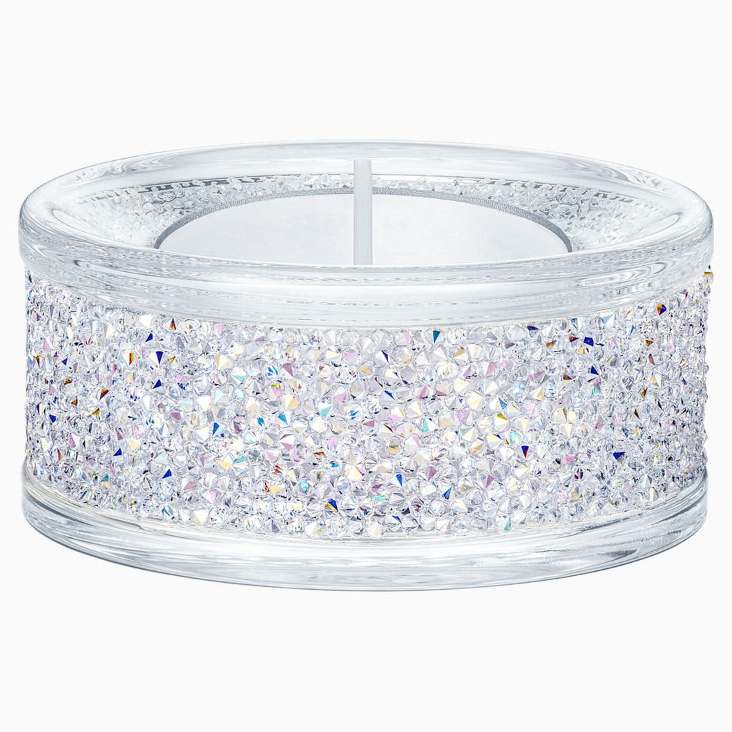 SHIMMER TEA LIGHT HOLDER, CRYSTAL AB