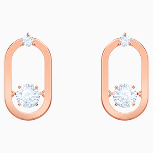 SPARKLING DC:PE STUD OVAL STUDS CZWH/ROS