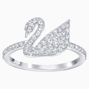 ICONIC SWAN:RING CRY/RHS