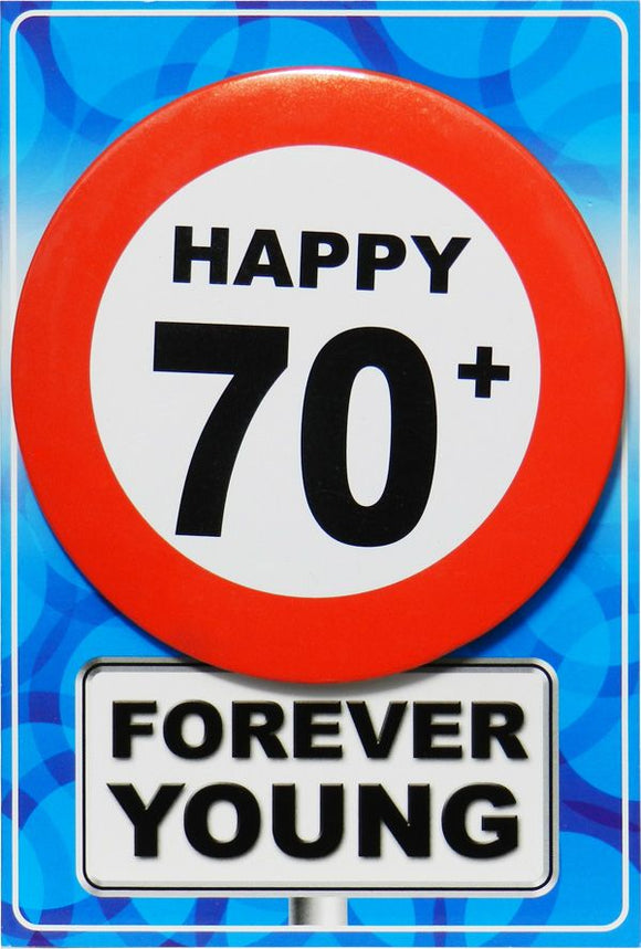 Chapa Forever Young - Happy + 70 - Gormand