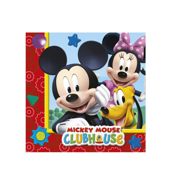 20 Servilletas Mickey Mouse