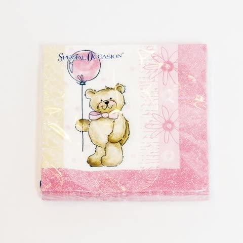 20 Servilletas Teddy Rosa