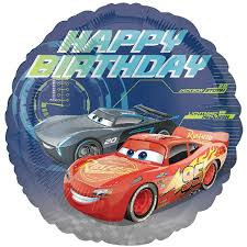 Globo Redondo Cars Happy Birthday
