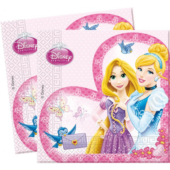 20 Servilletas de Papel Princesas Disney