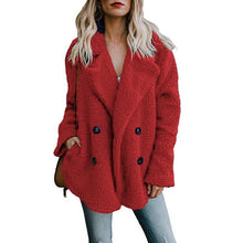 Load image into Gallery viewer, Autumn Winter Warm Women's Faux Fur Jacket plush Coat artificial fluffy fleece optional Plus Size S-5XL Jacket Female Clothing