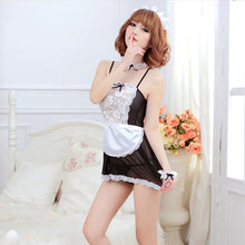 Load image into Gallery viewer, Maid Uniform Costumes Role Play Women Sexy Lingerie Hot Sexy Underwear Lovely Female White Lace Erotic Costume Babydoll Chemise