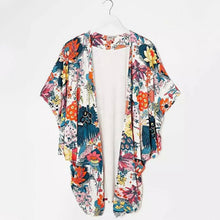 Load image into Gallery viewer, 2018 Summer Women Kimono Cardigan Blouse Fashion Cherry blossoms Printing Women Blouses Loose Chiffon Cardigan Shirt Female 50