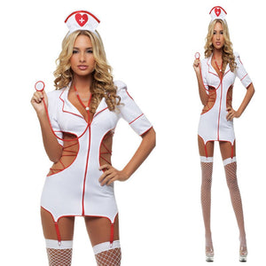 2018 Women Sexy Nurse Costume Hot Erotic Underwear Role Play Games Women Erotic Lingerie Female Sexy Underwear lenceria Uniform