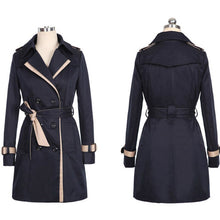 Load image into Gallery viewer, Trench Coat For Women 2019 Autumn Casual Double Breasted Female Long Trench Coats Plus Size Casaco Feminino Ladies Windbreaker