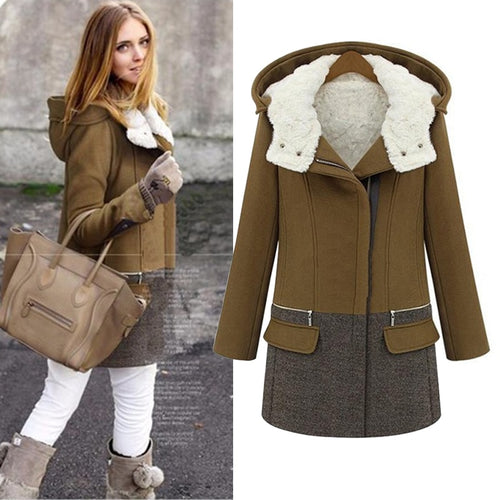2018 Winter Jackets Women Long Cashmere Coat Female Zipper Thick Woolen Coats Women Jacket Parka Slim Outwear Wool & Blends 50