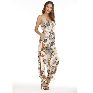 Female Jumpsuit for Women 2019 Summer Floral Print Jumpsuit Womens Trousers Bohemian Rompers Jumpsuit Long Pants Overalls Female