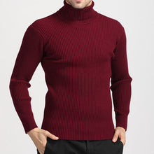 Load image into Gallery viewer, Winter Thick Warm Turtleneck Sweater Men 2019 Casual Knitted Cashmere Pullover Sweater Men Plus Size Slim Red Pullover Men 3XL