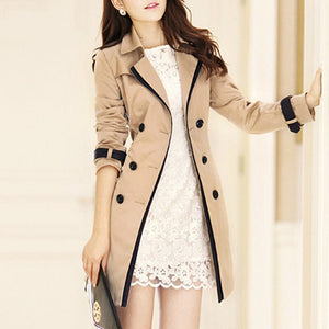 Trench Coat For Women 2019 Autumn Casual Double Breasted Female Long Trench Coats Plus Size Casaco Feminino Ladies Windbreaker
