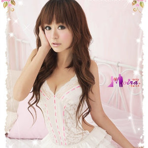 Sexy Costumes Women Erotic Lingerie Hot Dress Set Underwear Backless Lace Clothing Sex Toys Uniform +G-string Exotic Apparel 25