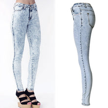 Load image into Gallery viewer, 2017 New High Waist Jeans Women Denim Pants Skinny Women Jeans Distressed Washed Stretch Denim Pants Femme Plus Size 2XL 50